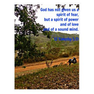 Dios inspirado del verso de la biblia de Timothy Postal