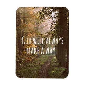 Dios inspirado hará una cita de la manera imanes rectangulares