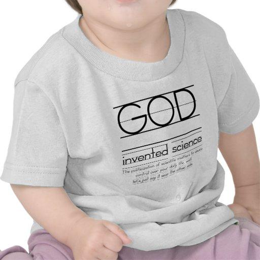 Dios inventó ciencia camiseta