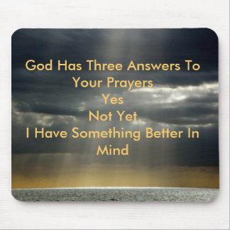 Dios irradia dios tiene tres respuestas a sus rez alfombrillas de raton