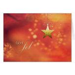 Dios Jol, Felices Navidad en noruego, estrella Felicitación