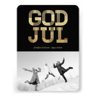 Dios julio Glänsande Guld Foto Hälsningar Invitaciones Personalizada