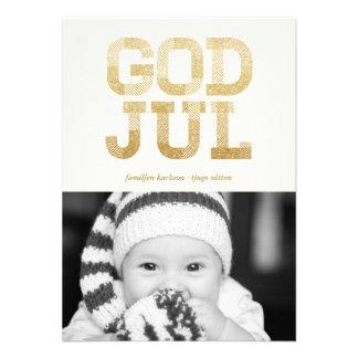 Dios julio Glänsande Guld Foto Hälsningar Comunicados
