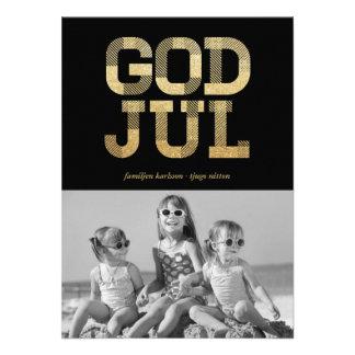 Dios julio Glänsande Guld Foto Hälsningar Anuncio Personalizado