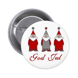 Dios julio/Tomten divertido lindo Pin Redondo De 2 Pulgadas