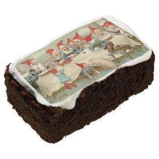 Dios julio - torta sueca del brownie del navidad