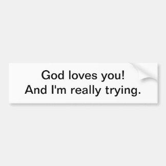 Dios le ama 2 - pegatina para el parachoques etiqueta de parachoque