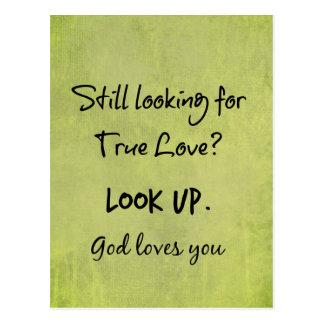 Dios le ama cita cristiana postal