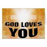 Dios le ama felicitación