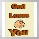Dios le ama impresiones