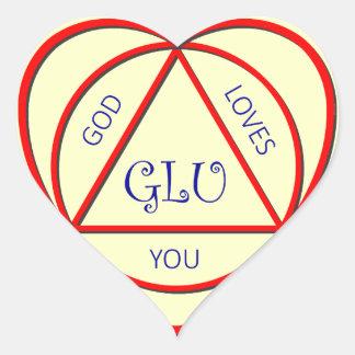 Dios le ama los pegatinas calcomania corazon