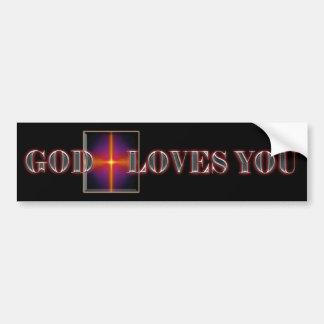 Dios le ama pegatina para el parachoques pegatina para auto