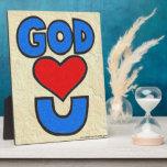 Dios le ama placas con fotos