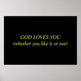 Dios le ama póster