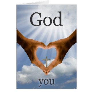 Dios le ama saludo tarjeta de felicitación