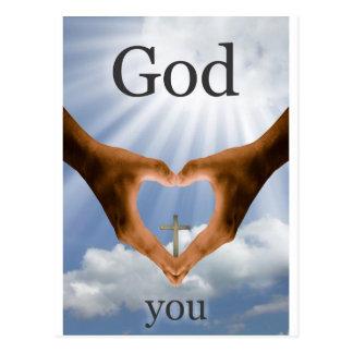 Dios le ama postal