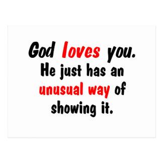 Dios le ama postales