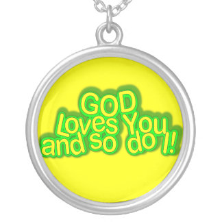 ¡Dios le ama y así que hace yo!  Collar