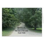 Dios le bendice pastor, 118:26 del salmo tarjeta de felicitación