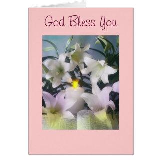 Dios le bendice tarjeta de felicitación