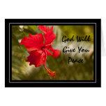 Dios le dará paz tarjeton
