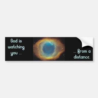 Dios le está mirando pegatina para el parachoques pegatina de parachoque