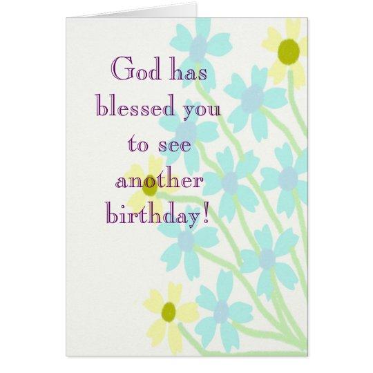 Dios le ha bendecido tarjeta de cumpleaños