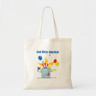 dios lindo del elefante bendice el dibujo animado  bolsas de mano