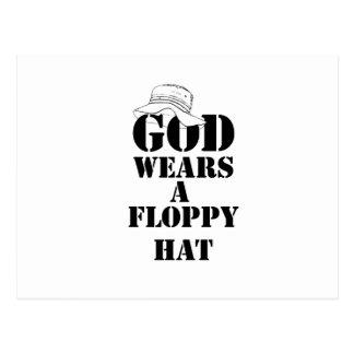 Dios lleva un diseño flojo dos del gorra postal