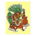 Dios maya de Tezcalipoca Postal