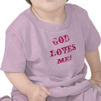 ¡Dios me ama Camiseta del bebé