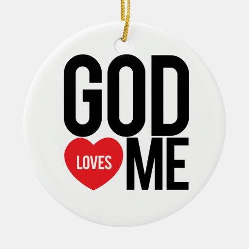 Dios me ama ornamento para arbol de navidad