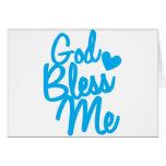 ¡dios me bendice! tarjeta