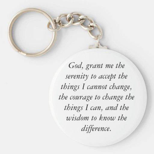 Dios, me concede la serenidad para aceptar las cos llaveros