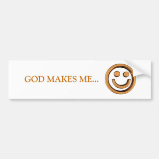 DIOS ME HACE… Pegatinas para el parachoques religi Pegatina Para Auto