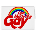 Dios me hizo el arco iris gay tarjeton