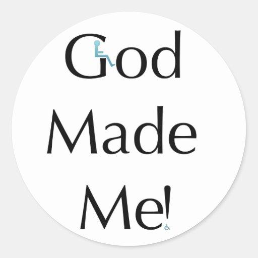 Dios me hizo pegatina redonda