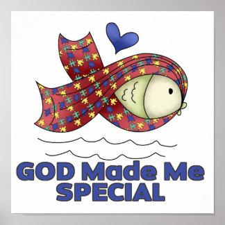Dios me hizo símbolo especial de los pescados del  póster