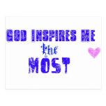 Dios me inspira MÁS Postal