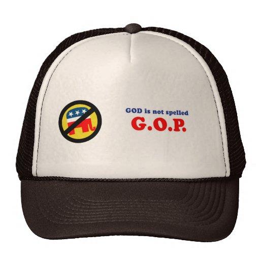 Dios no es G-O-P deletreado Gorro De Camionero