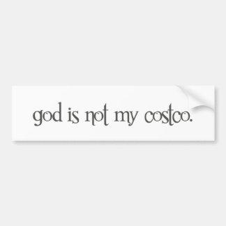 dios no es mi costco pegatina para auto