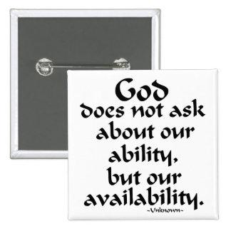 Dios no pide… pin