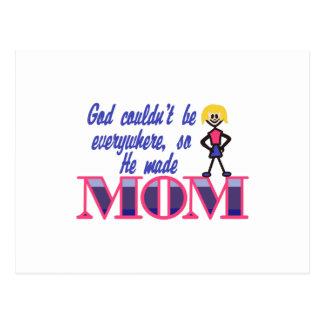 Dios no podría estar por todas partes tarjetas postales