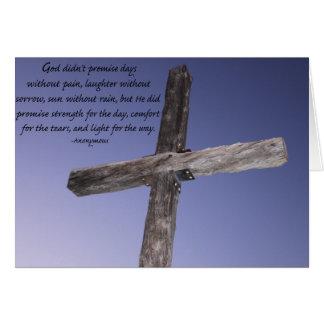 Dios no prometió… tarjeta pequeña