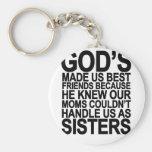 Dios nos hizo a mejores amigos porque… png llaveros