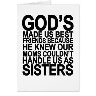 Dios nos hizo a mejores amigos porque… png tarjeta de felicitación