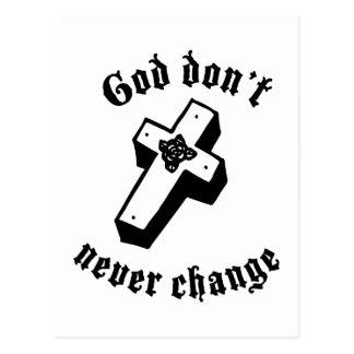 Dios nunca no cambia tarjeta postal