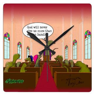 Dios nunca nos da más que podemos dirigir reloj cuadrado