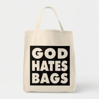Dios odia bolsos bolsas lienzo