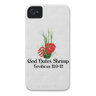 Dios odia el camarón Case-Mate iPhone 4 coberturas